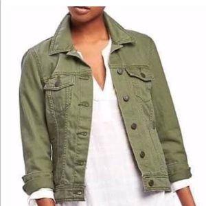 Olive green jean jacket!